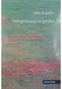 Kategoryzacja w języku
