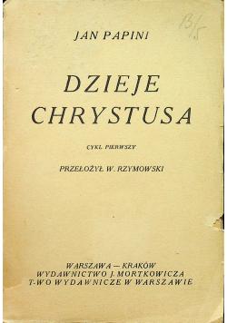 Dzieje Chrystusa 1922 r.