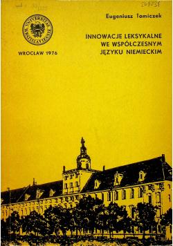 Innowacje leksykalne we współczesnym języku niemieckim