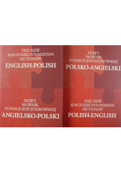 Nowy słownik fundacji kościuszkowskiej polsko angielski angielsko polski