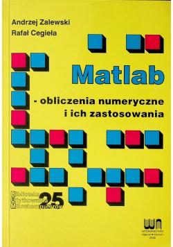 Matlab obliczenia numeryczne i ich zastosowania