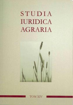 Studia Iuridica Agraria Tom XIV