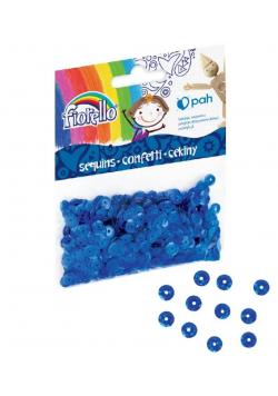 Confetti cekiny kółko niebieskie FIORELLO