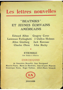 Beatniks et Jeunes Ecrivains Americains