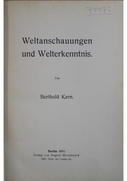 Weltanschauugen und Welterkenntnis 1911 r.
