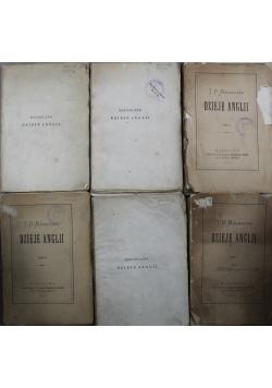 Dzieje Anglii 6 tomów 1873 r.