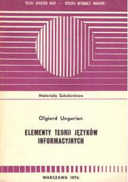Elementy teorii języków informacyjnych