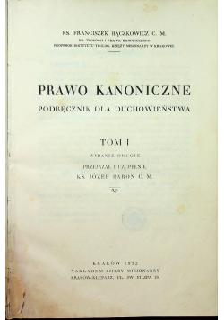 Prawo kanoniczne Podręcznik dla duchowieństwa Tom I 1932 r.