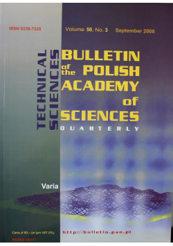 Bulletin of the Polish Academy of Sciences Technical Sciences Vol 56 No 3