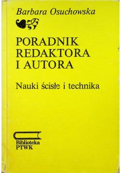 Poradnik redaktora i autora Nauki ścisłe i technika