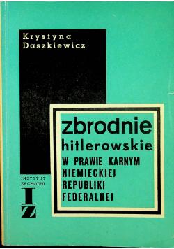 Zbrodnie hitlerowskie w prawie karnym niemieckiej republiki federalnej