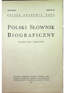 Polski słownik biograficzny Tom XXIX/2 zeszyt 121