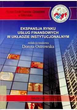 Ekspansja rynku usług finansowych w układzie instytucjonalnym