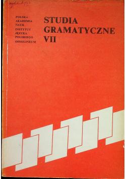 Studia gramatyczne VII