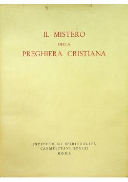 Il Mistero della Preghiera Cristiana