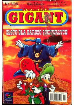 Komiks Gigant Nr 3 Złoto dla bardzo zuchwałych