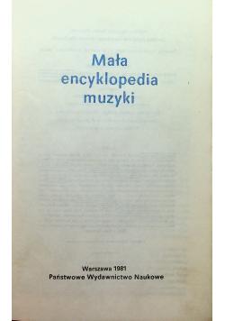 Mała encyklopedia muzyki