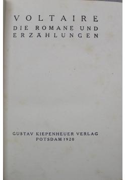 Voltaire die Romane und Erzahlunge Zweiter Band 1920 r.