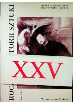 Rocznik Historii Sztuki Tom XXV
