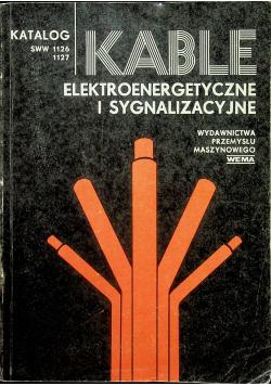Kable elektroenergetyczne i sygnalizacyjne
