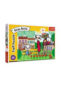 Puzzle 24 maxi Zabawy Kici Koci TREFL