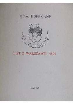 List z Warszawy 1804