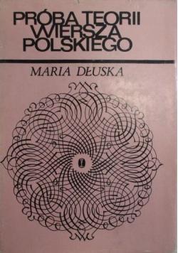 Próba teorii wiersza polskiego