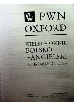 Wielki słownik polsko-angielski PWN Oxford