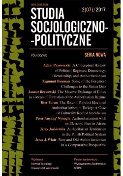 Studia Socjologiczno-Polityczne... nr 2(07)/2017