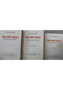 Pisma mowy rozkazy 3 tomy 1930 r