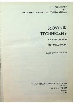 Słownik techniczny polsko rumuński i rumuńsko polski