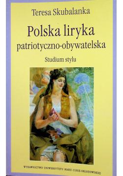 Polska liryka patriotyczno obywatelska