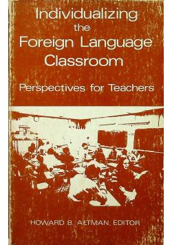 Individualizing the Foreign Language Classroom
