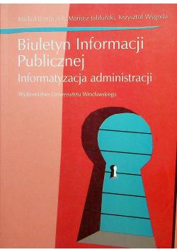 Biuletyn Informacji Publicznej informatyzacja administracji