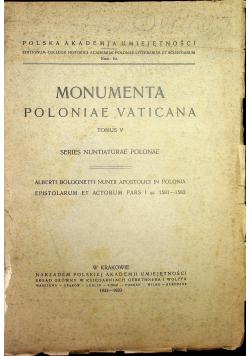 Monumenta Poloniae Vaticana Tomus V 1933 r.