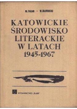Katowickie środowisko literackie w latach 1945-1967
