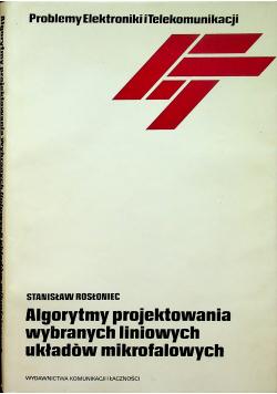 Algorytmy projektowania wybranych liniowych układów mikrofalowych