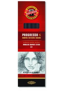 Ołówek grafitowy Progresso mix 5szt + akwarelowy