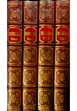 Biblia 4 tomy reprinty z 1599 r.