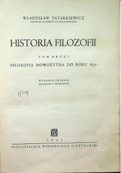 Historia filozofii tom II 1947 r