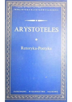 Arystoteles Retoryka Poetyka