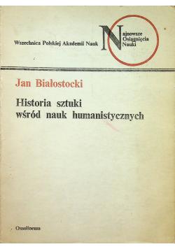 Historia sztuki wśród nauk humanistycznych