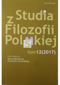 Studia z filozofii Polskiej Tom XII