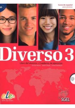 Diverso 3 Podręcznik + ćwiczenia + CD