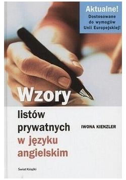 Wzory listów prywatnych w języku angielskim