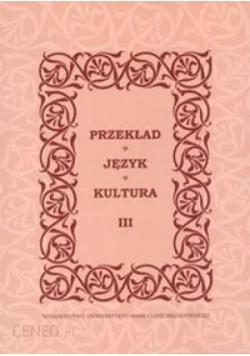 Przekład Język Kultura tom 3