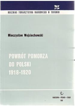 Powrót Pomorza do Polski 1918 - 1920