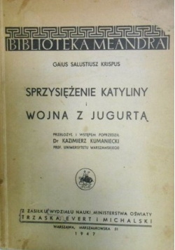 Sprzysiężenia Katyliny i Wojna z Jugurtą 1947 r