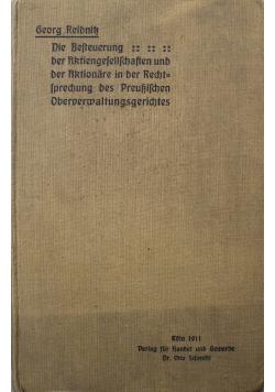 Die Besteuerung der Aktiengefellfchaften und der Aktionare 1911r