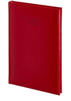 Kalendarz 2022 A4 Dzienny Vivella czerwony